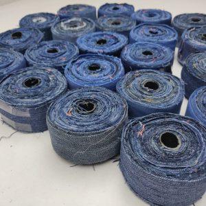 Recycle Denim Ribbon | Latifi Silks